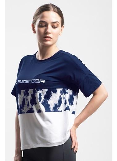 Slazenger Slazenger PREVIOUS Kadın T-Shirt  Lacivert